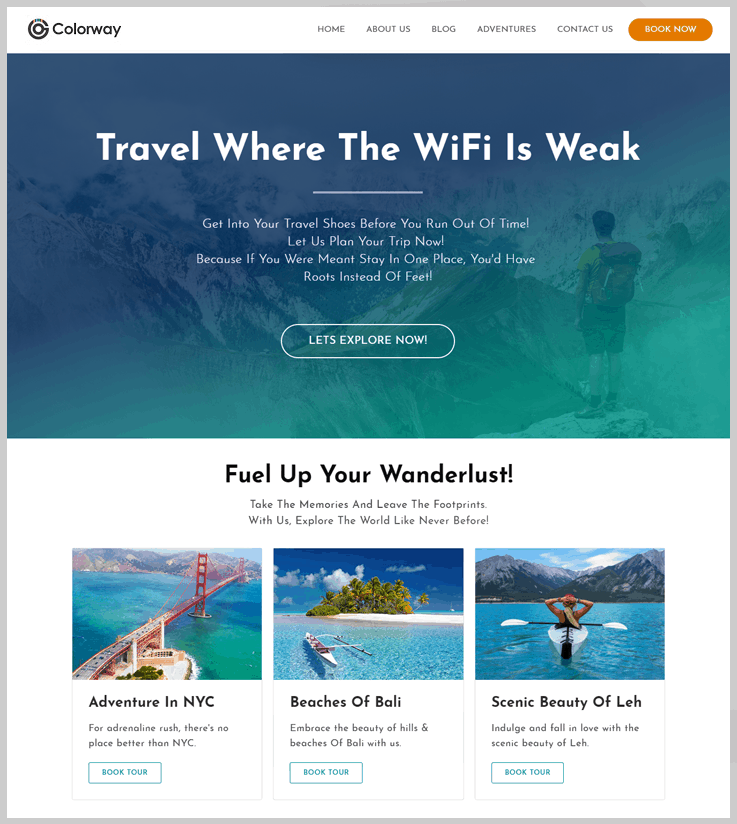 Colorway - Vacation Rental WordPress Themes