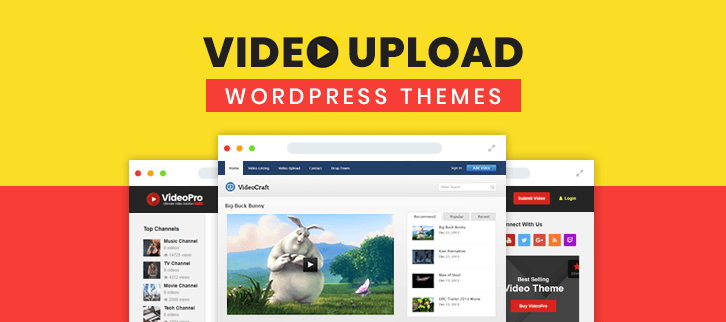 Video Upload WordPress Themes