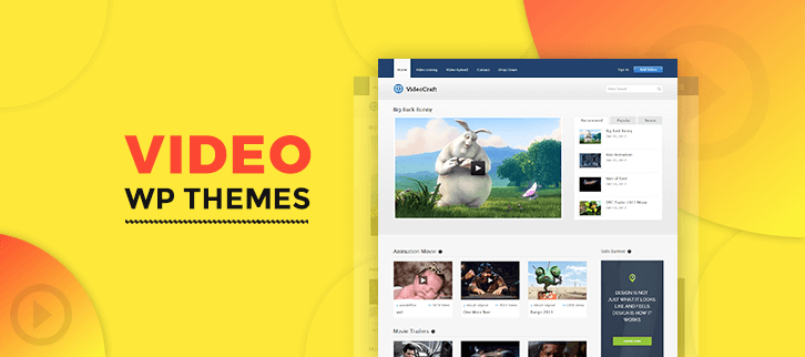 5+ Video WordPress Themes 2018 (Free and Paid)
