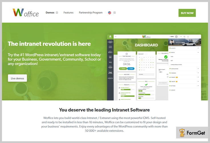 Woffice Intranet WordPress Theme