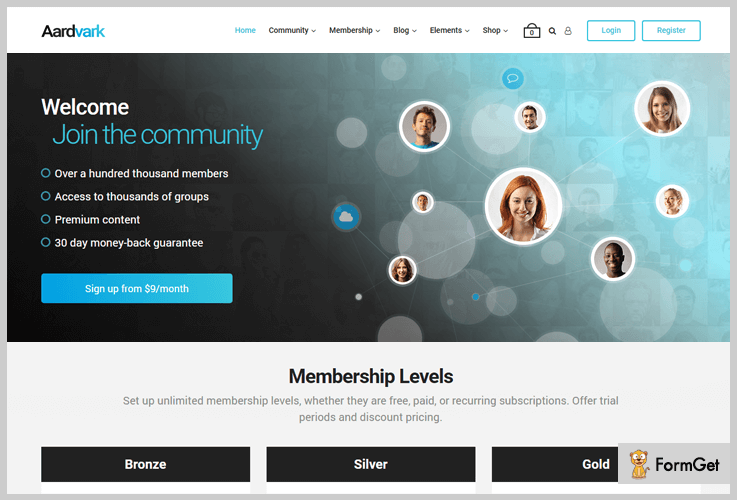 Aardvark Membership WordPress Themes