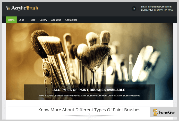 Artist WordPress Theme