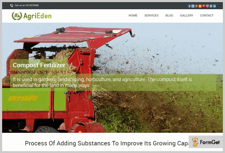 AgriEden Agriculture WordPress Themes