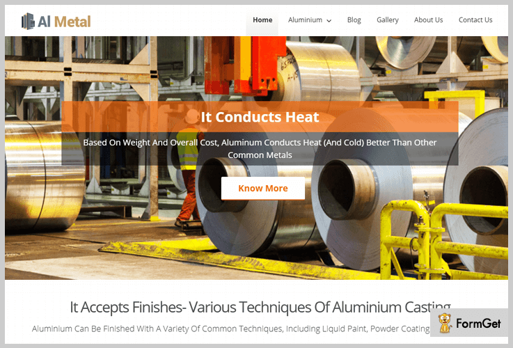 Al Metal Metal Business WordPress Theme