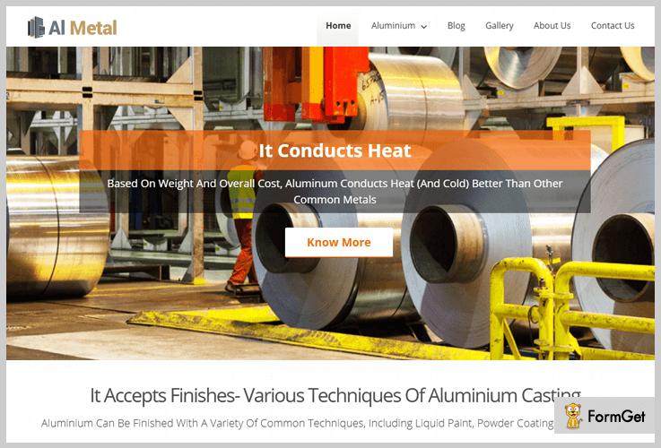 Al Metal Industrial WordPress Theme
