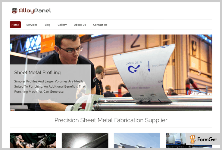 Alloy Panel Metal Business WordPress Theme