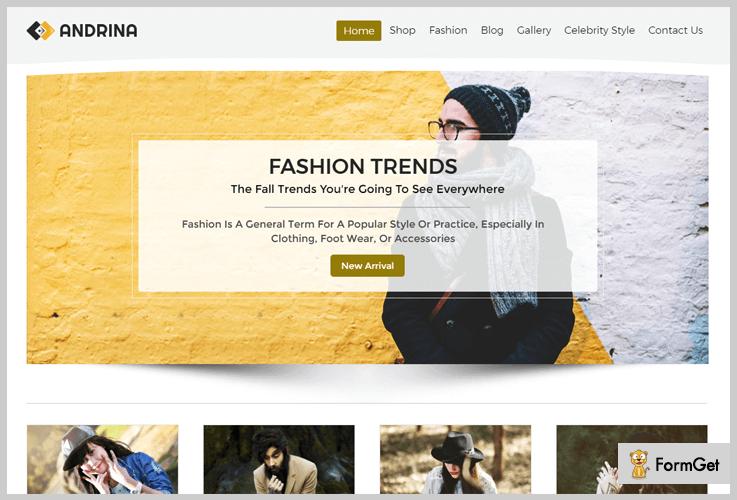 Andrina WordPress theme