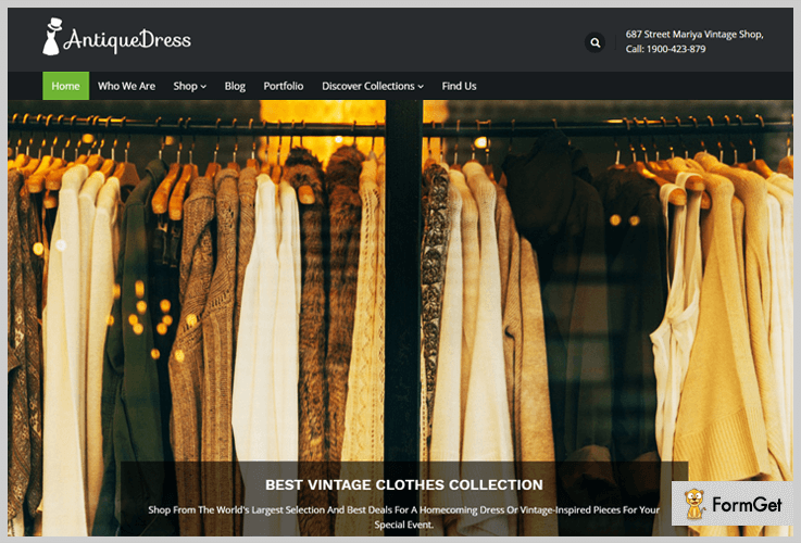 AntiqueDress Vintage WordPress Theme