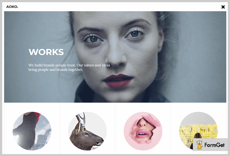 Aoko Video Header WordPress Themes