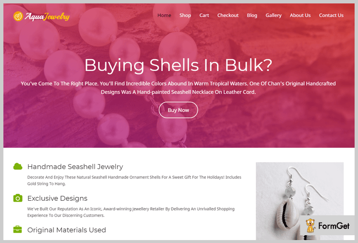 Aqua Jewelry Jewelry WordPress Theme