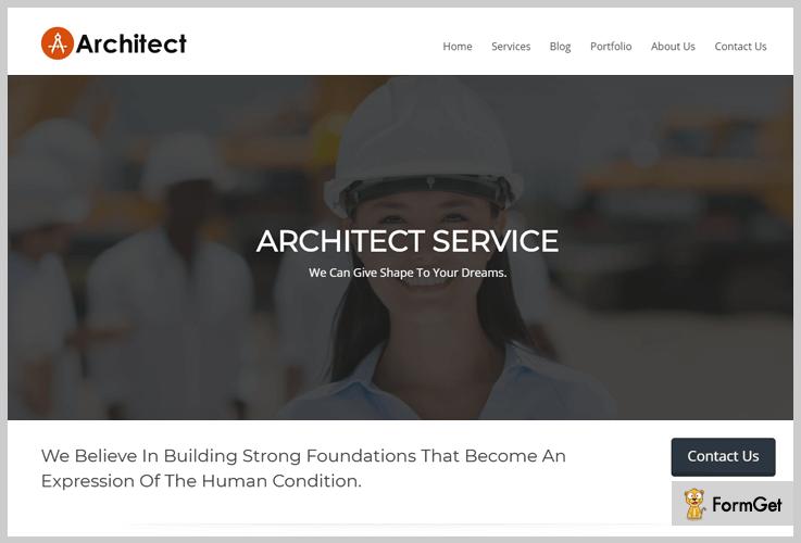architect Construction WordPress Theme