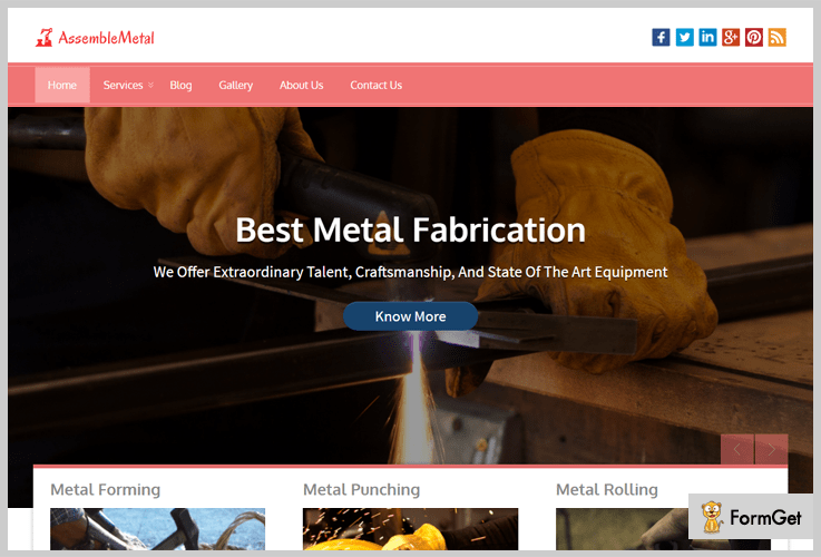 Assemble Metal Metal Business WordPress Theme