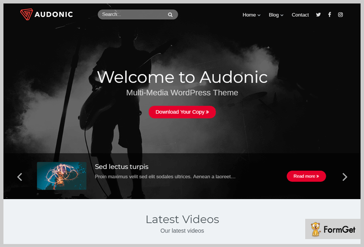 Audonic Podcast WordPress Theme