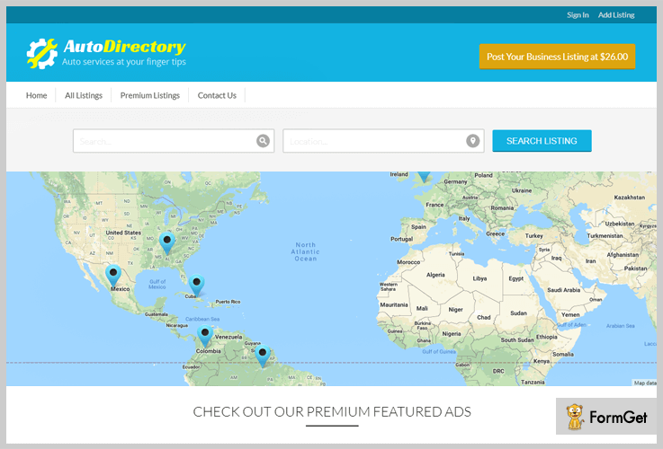 AutoDirectory - Directory WordPress Theme