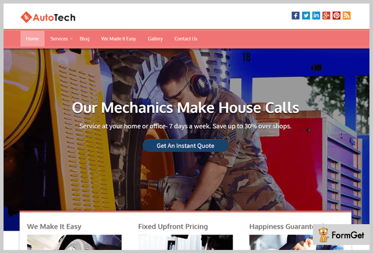 AutoTech Automotive WordPress Themes