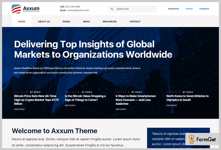 Axxum WordPress Themes Stock Market