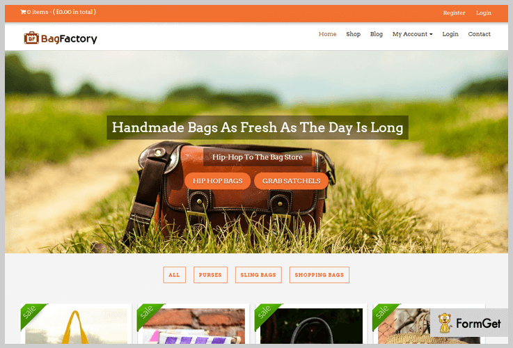 Bag Factory Industrial WordPress Themes