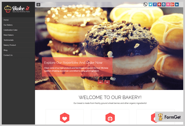 Bake It Bakery WordPress Theme