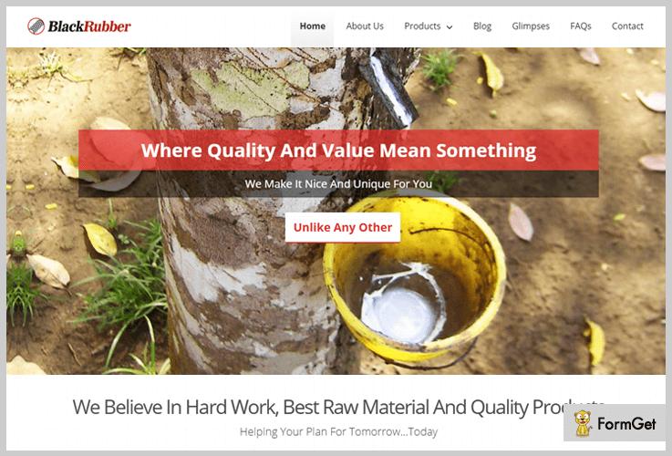 Black Rubber Industrial WordPress Theme