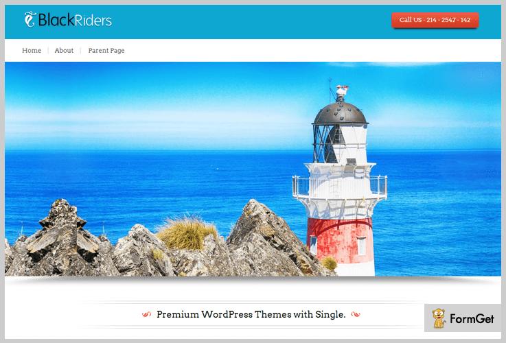 Blackrider Photography WordPress Theme