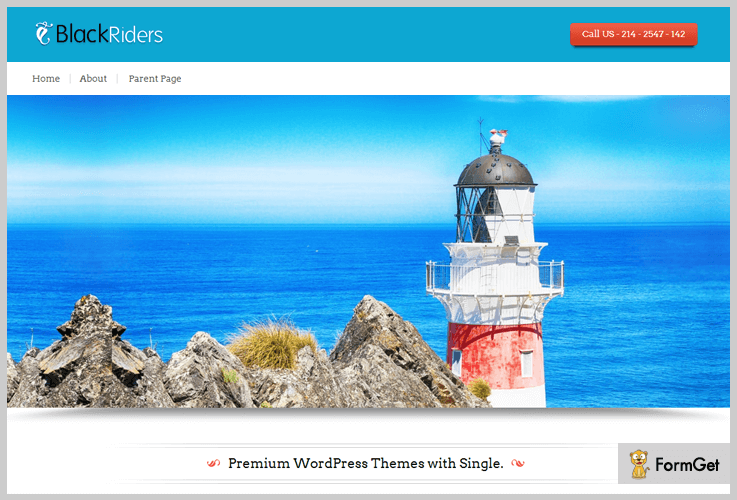 BlackRider Sailing WordPress Theme