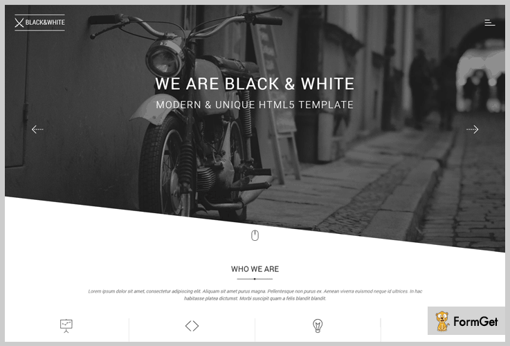 Black&White WordPress Themes Black and White