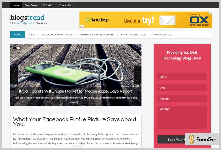 BlogsTrend Magazine WordPress Themes