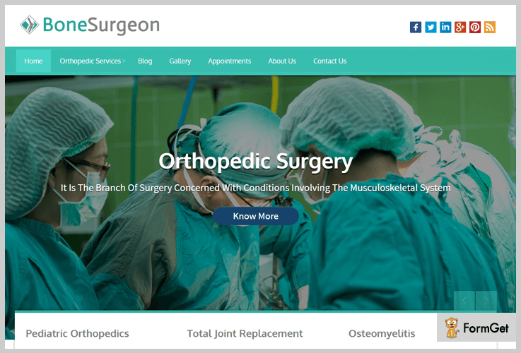 Bone Surgeon Doctor WordPress Theme