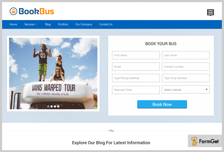 book-bus Booking WordPress Theme