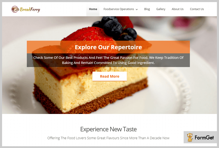 Bread Ferry Bakery WordPress Theme