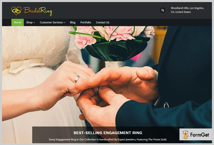 Bridal Ring Jewelry WordPress Theme
