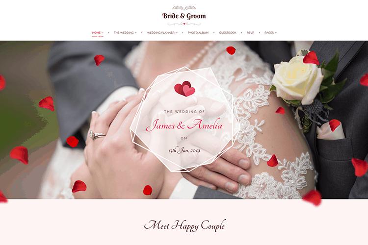 Bride Groom Wedding Planner WordPress Theme