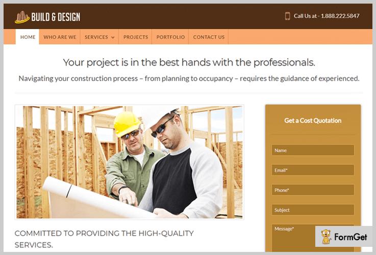 Build & Design Construction WordPress Theme