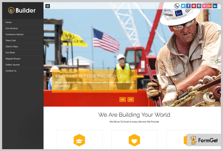 Builder Contractor WordPress Theme