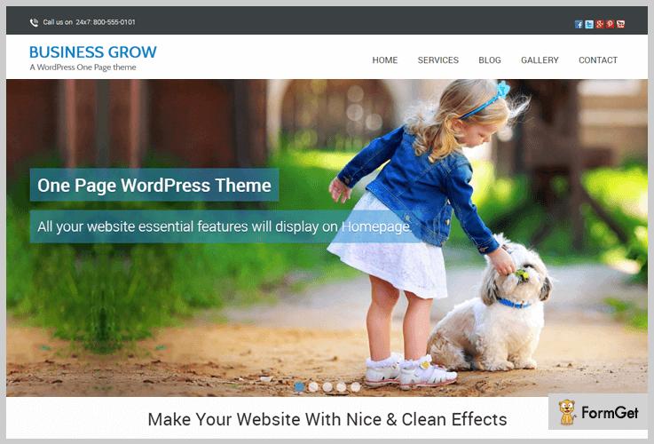 Business Grow Parallax WordPress Theme