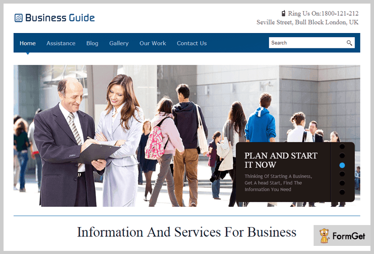 BusinessGuide WordPress themes for startups