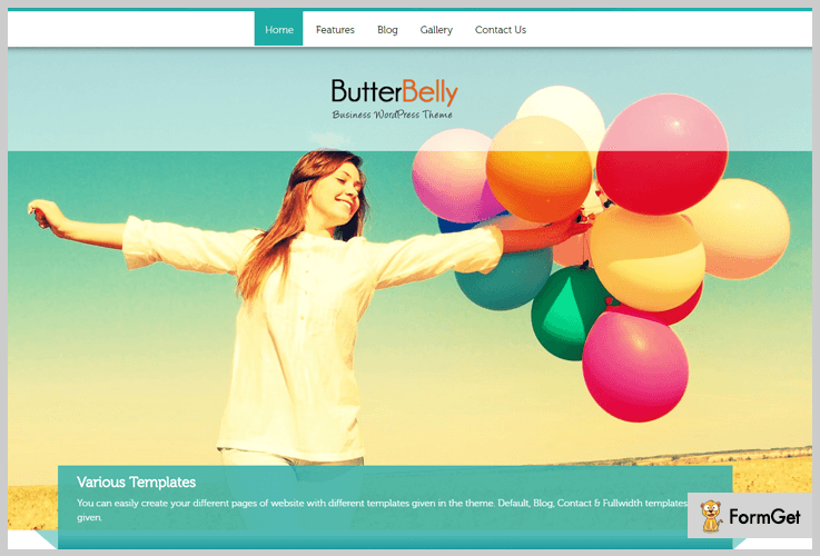 Butterbelly RTL WordPress Theme