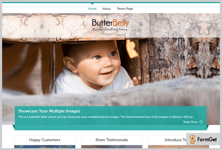 ButterBelly Fullscreen WordPress Theme