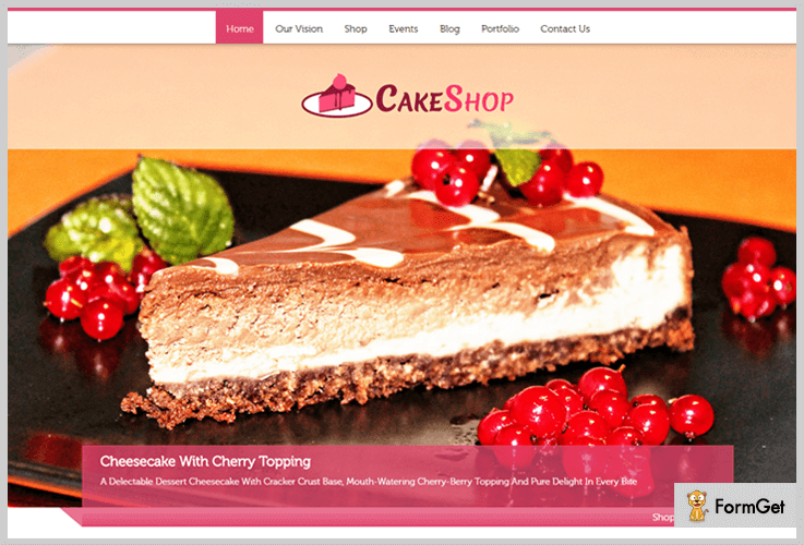 Cake Shop Bakery WordPress Theme
