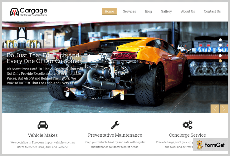 Automobile WordPress Theme