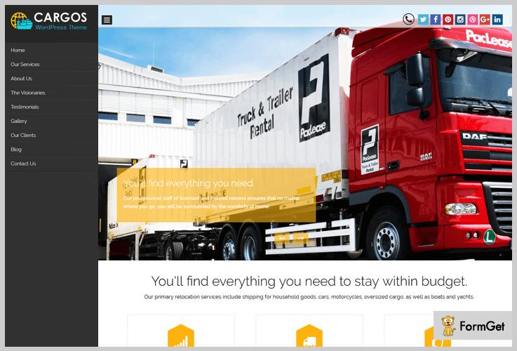 Cargos WordPress Theme