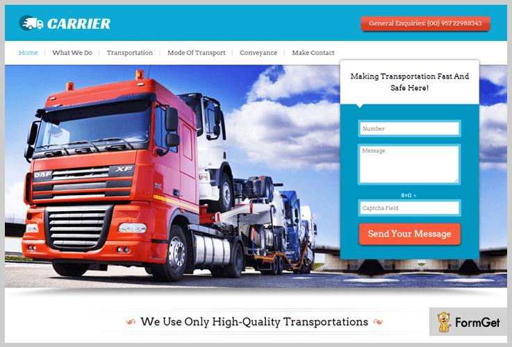Transportation Logistics WordPress Theme