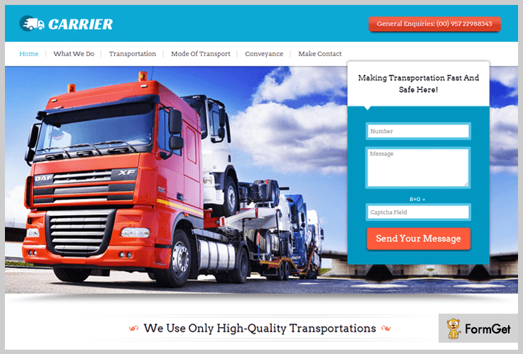 Carrier WordPress Theme