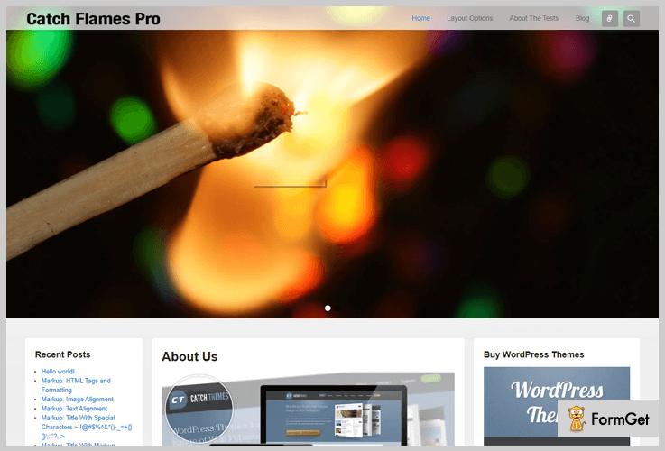Catch Flames Three Column WordPress Theme