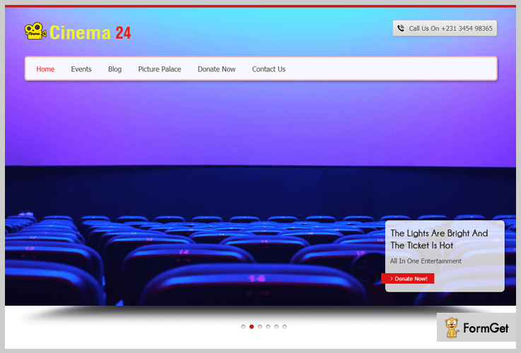 Cinema24 Filmmaker WordPress Theme