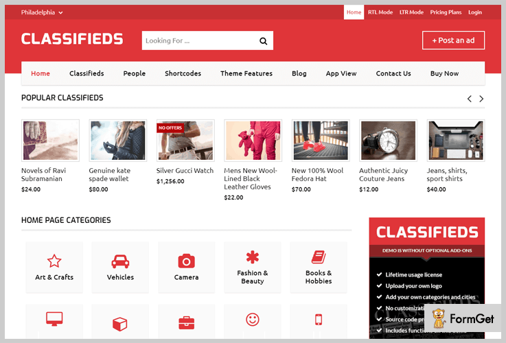Classifieds Classified WordPress Theme