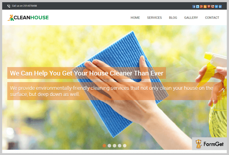 Clean House House Cleaning WordPress Theme