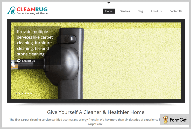 Clean Rug House Cleaning WordPress Theme