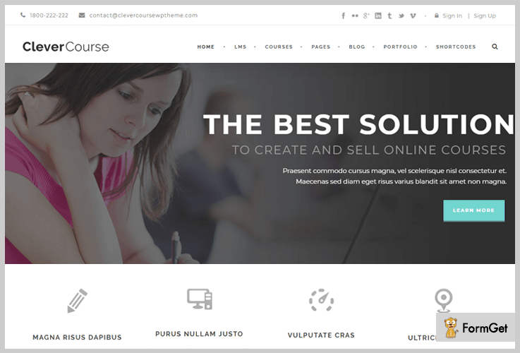 Clever Course LMS WordPress Themes