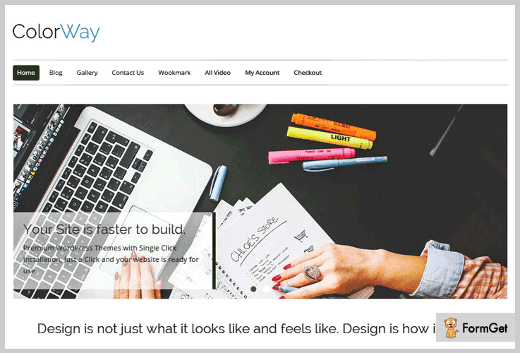 ColorWay: Free Carpenter WordPress Theme